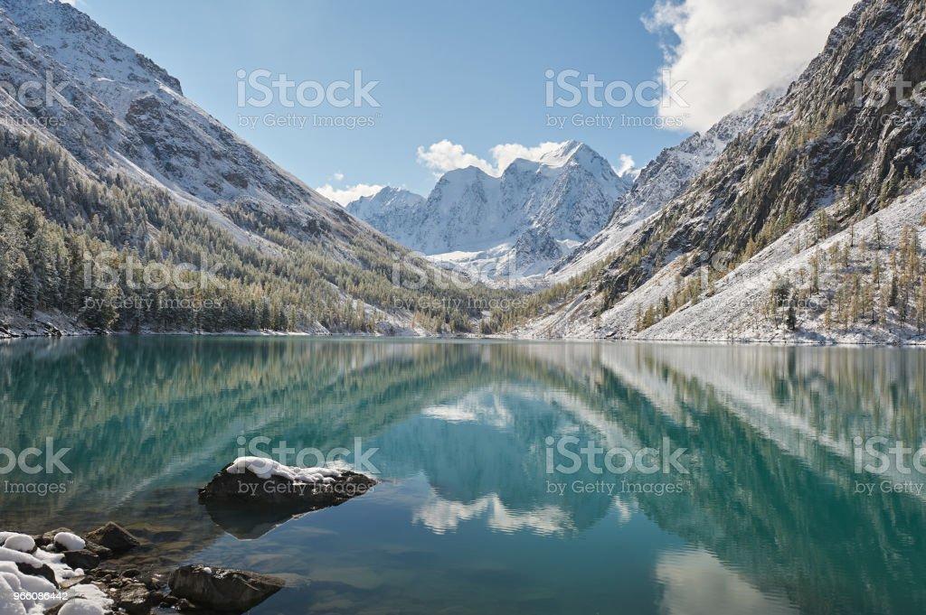 Altai-bergen, Ryssland, Sibirien. - Royaltyfri Altai Nature Reserve Bildbanksbilder