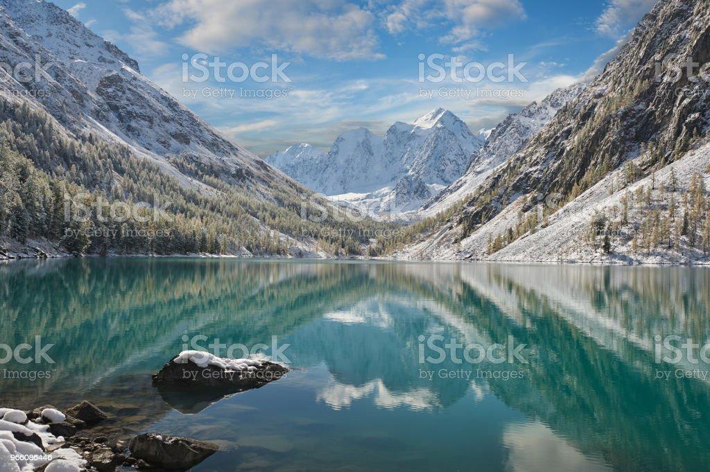 Altai-Gebirge, Russland, Sibirien. - Lizenzfrei Abenddämmerung Stock-Foto