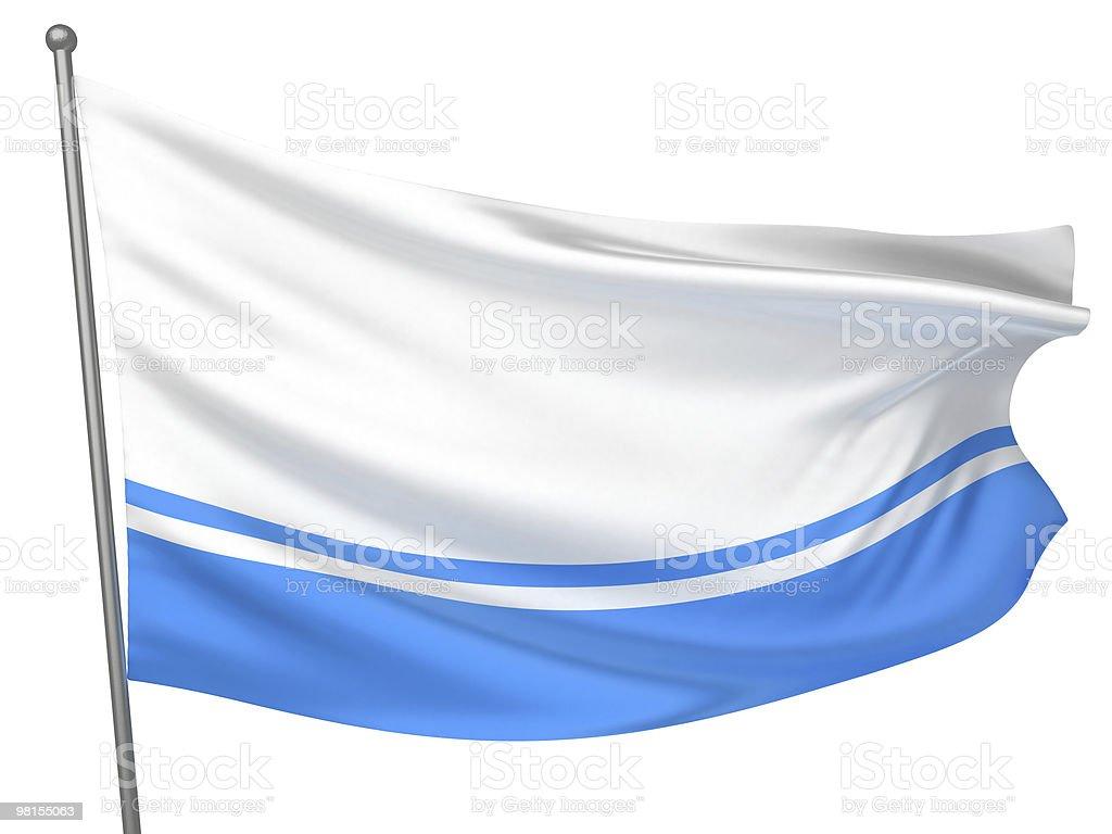 Altai Republic National Flag royalty-free stock photo