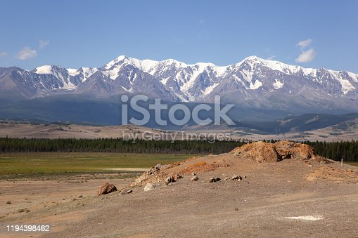 istock altai snow mountain and steppe forest 1194398462