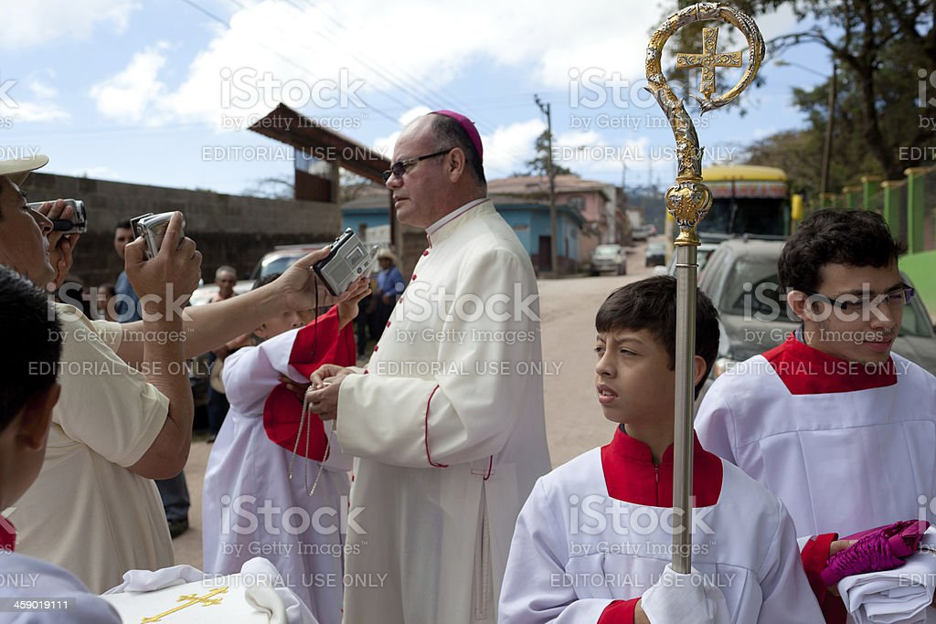 Altar boy stock photo