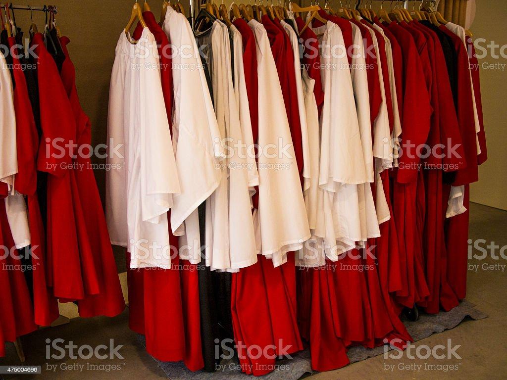 Altar Boys Gowns stock photo