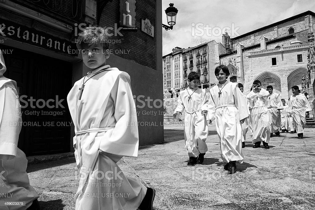 Altar boys in Spain stock photo