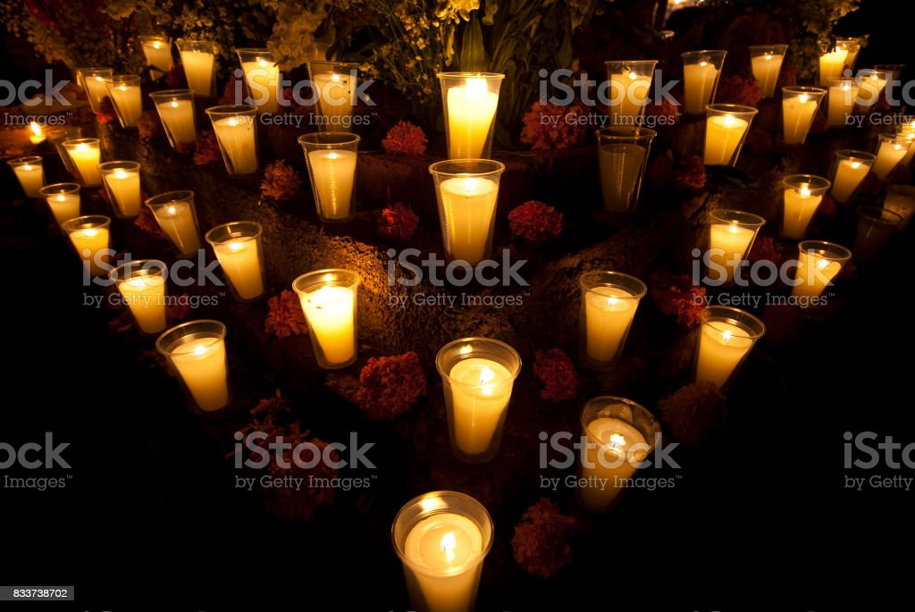 altar de dia de los muertos stock photo