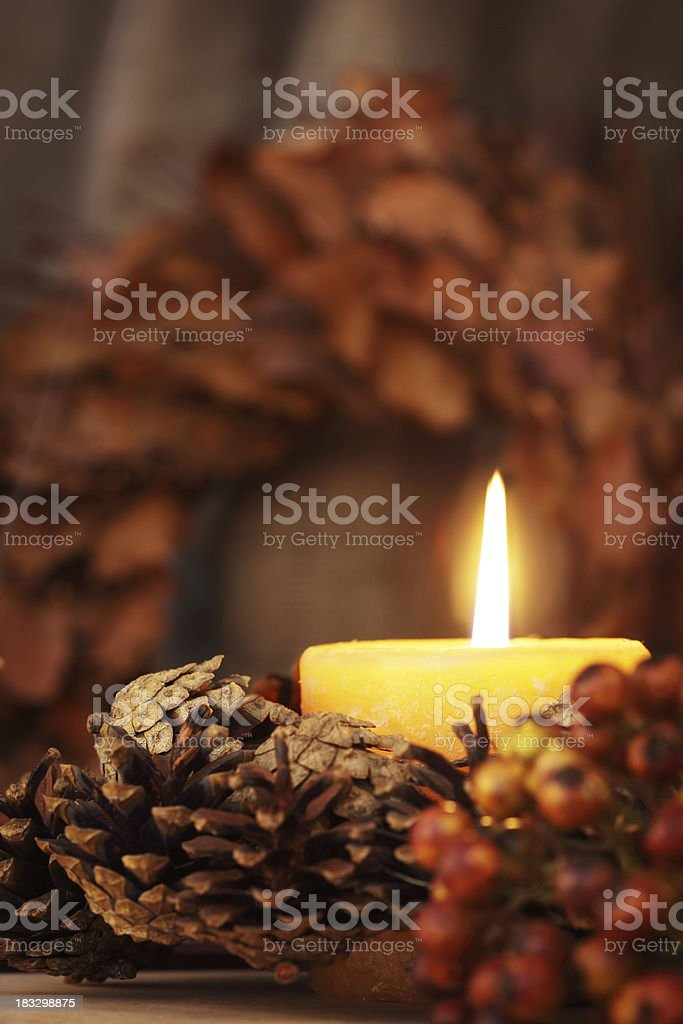 Altar Decorated for Harvest Festival Celebrations royalty-free stock photo