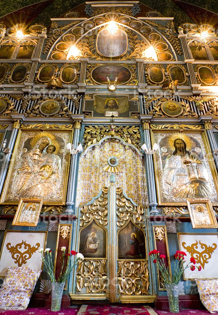 Altar doors stock photo
