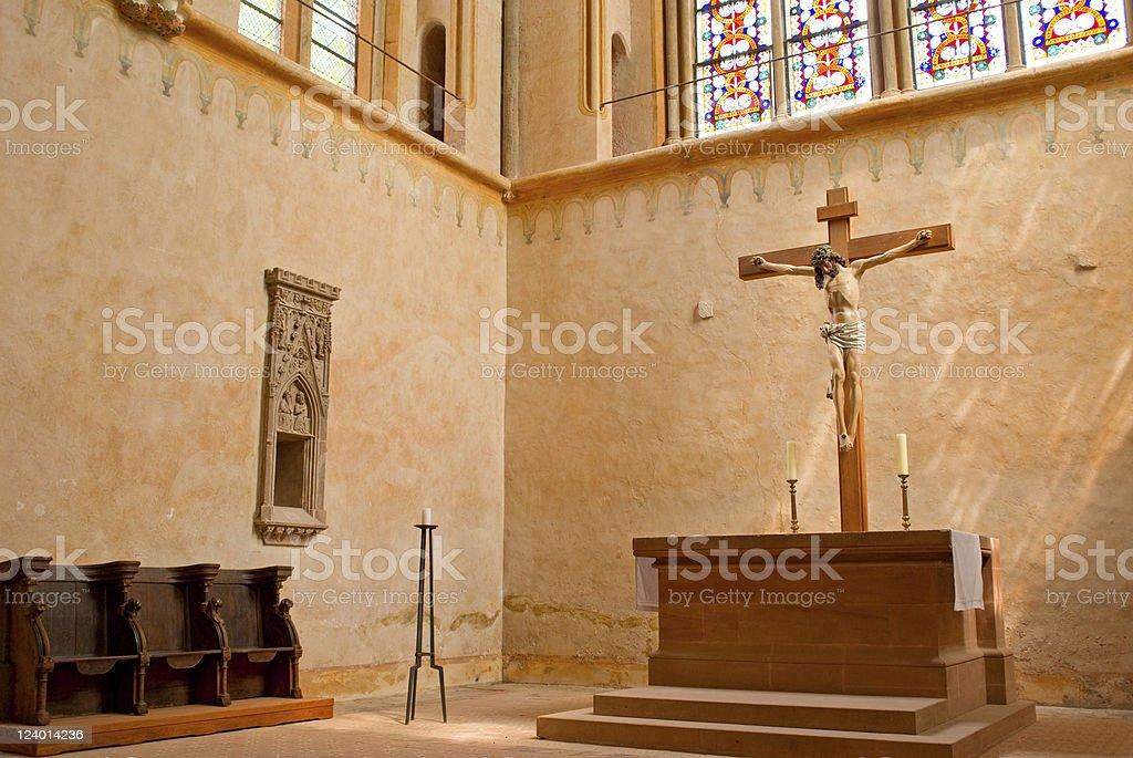 Altar of Monastery royalty-free stock photo