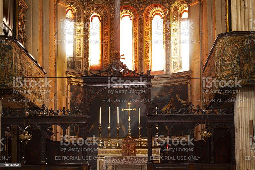 Altar of Santa Maria Maggiore royalty-free stock photo