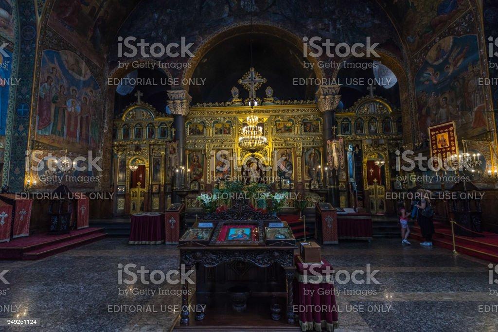 Altar of St. Nedelya Church, Sofia, Bulgaria stock photo