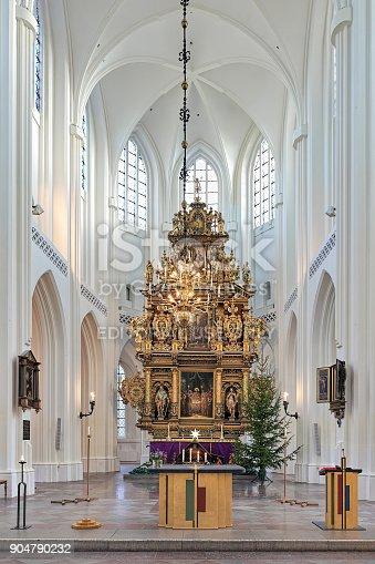 istock Altar of St. Peter's Church (Sankt Petri kyrka) in Malmo, Sweden 904790232