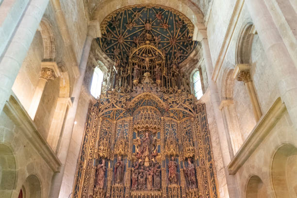 Altar of the Cathedral Sé Velha de Coimbra, Portugal - stock photography - foto stock