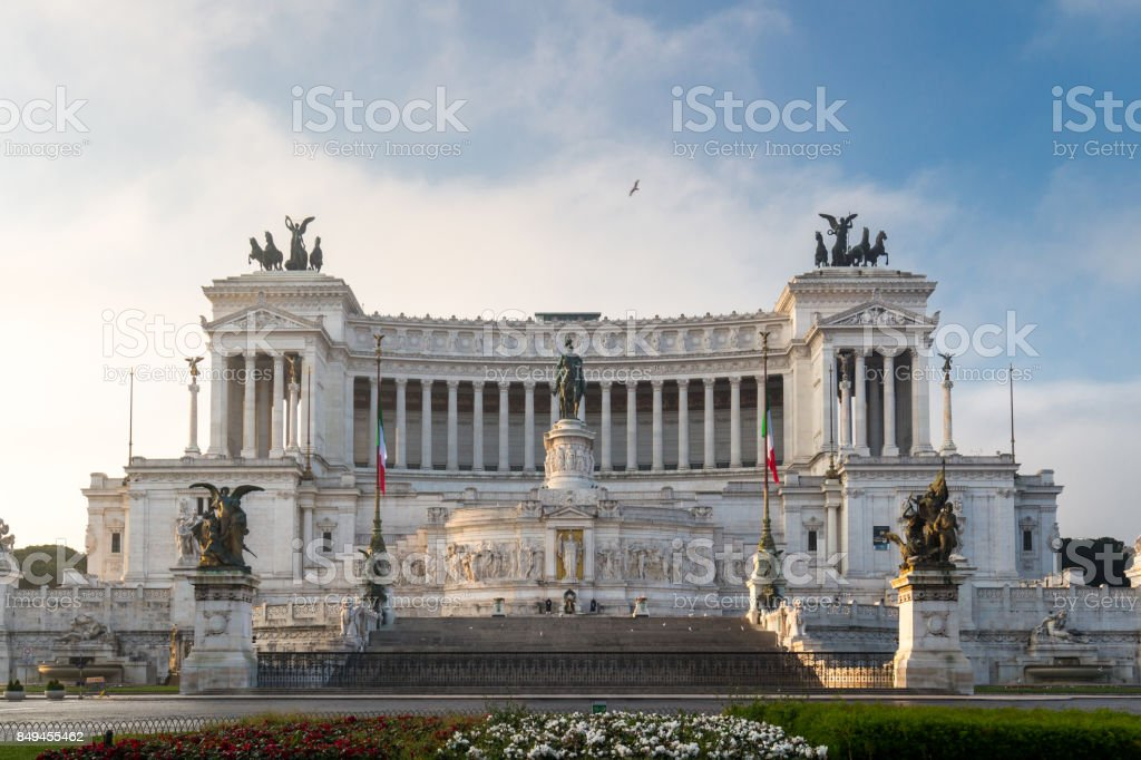 Altar of the Fatherland, Altare della Patria, also known as the National Monument to Victor Emmanuel II, Rome Italy stock photo