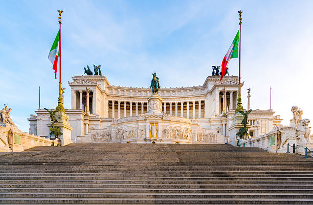 altare della patria in rome, italy - della stock pictures, royalty-free photos & images