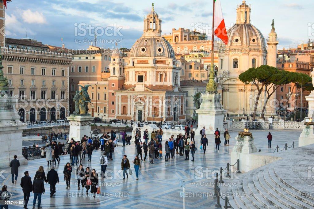 Altar of the Fatherland (Altare della Patria) royalty-free stock photo