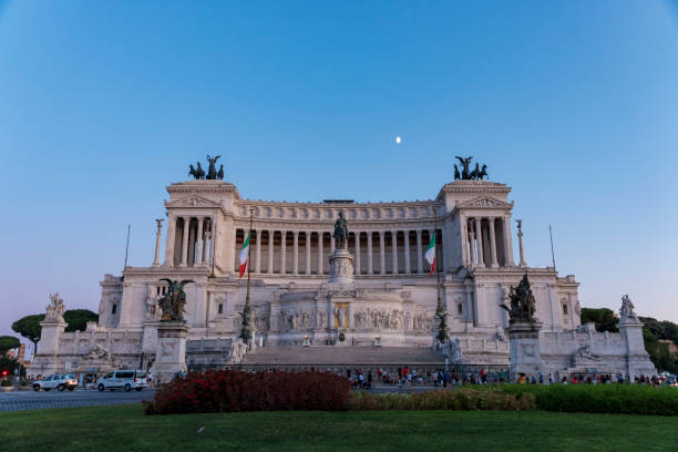 Altar Of The Fatherland, Rome Italy stock photo