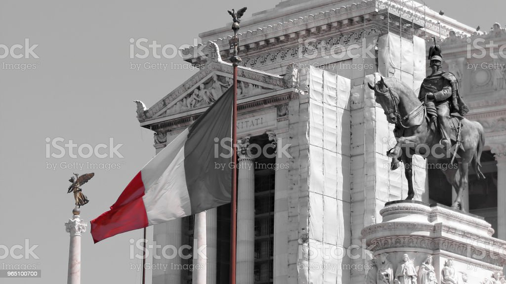 Altar of the Fatherland - Statue of Victor Emmanuel II - Vittoriano - Rome - Italy royalty-free stock photo