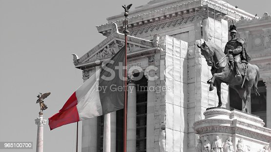 Altar Of The Fatherland Statue Of Victor Emmanuel Ii Vittoriano Rome Italy Stock Photo & More Pictures of Altar