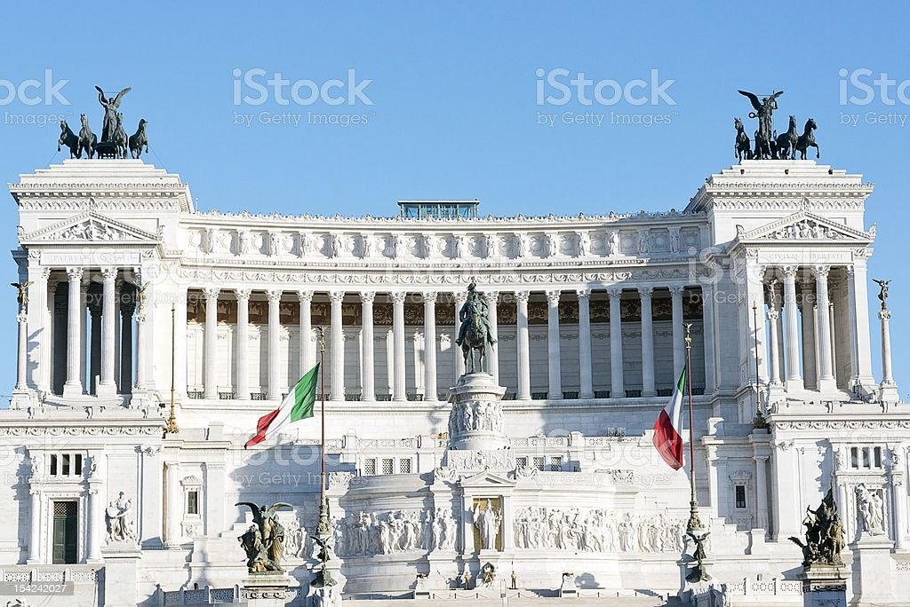 Altar of the homeland, Rome royalty-free stock photo