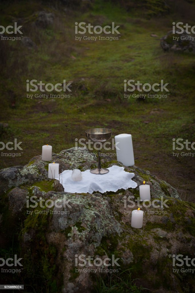 Altar on Rocks stock photo