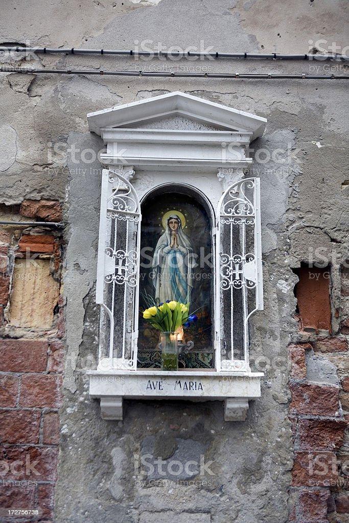 Altar to the Madonna Venice Italy royalty-free stock photo