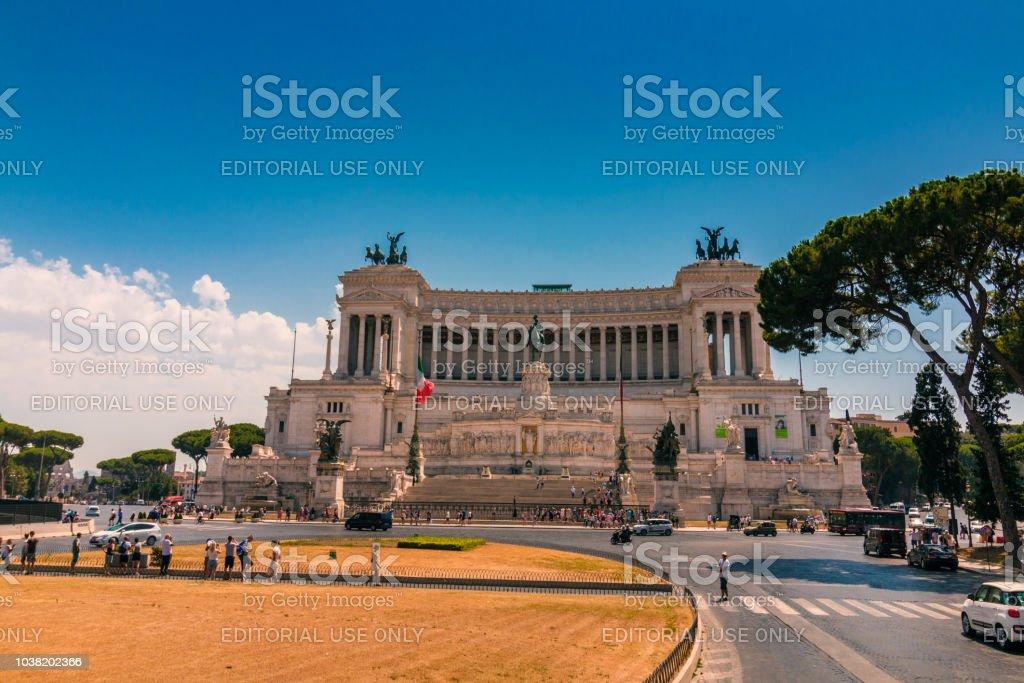 Altare della Patria and Monument to Victor Emmanuel in Rome stock photo