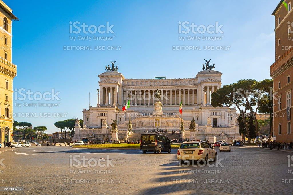Altare della Patria in Rome, Italy stock photo