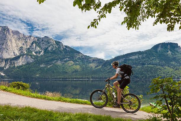 Altaussee lakeside Radfahren – Foto