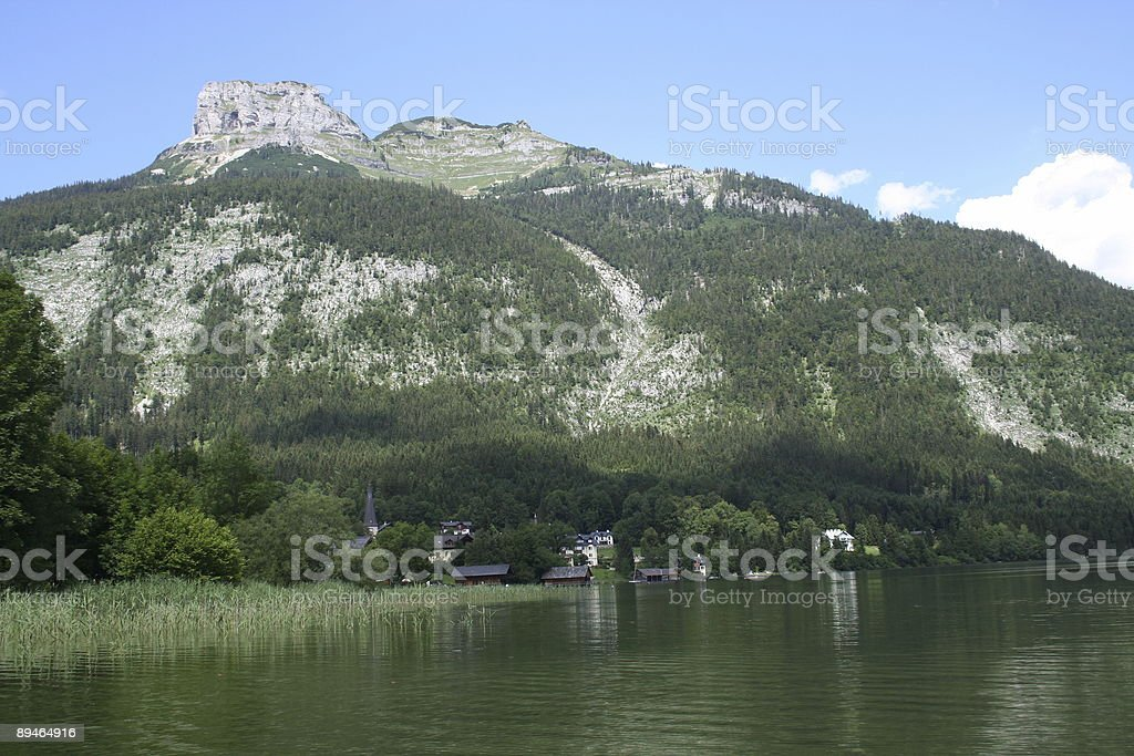 Altausseer See with Loser royalty-free stock photo