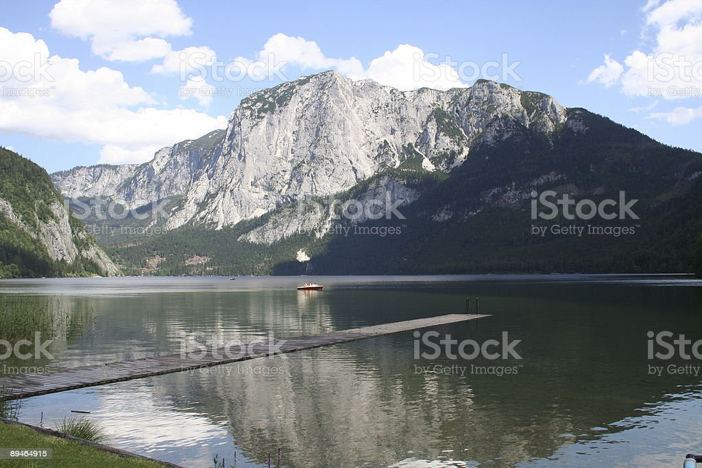 Altausseer See with Trisselwand royalty-free stock photo