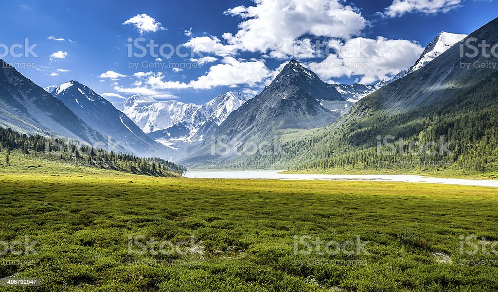 Altay Altai the way Beluha stock photo