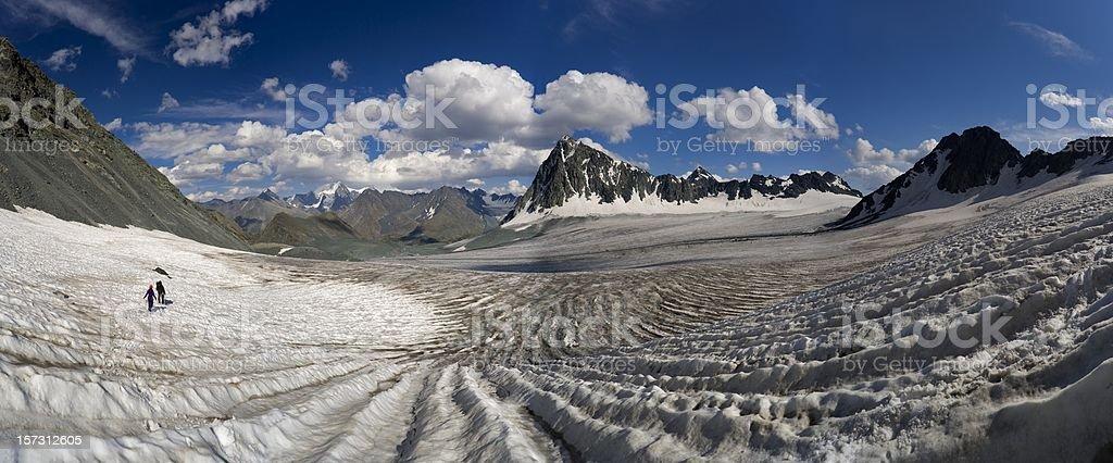 Altay motives. Nemucky glacier. stock photo