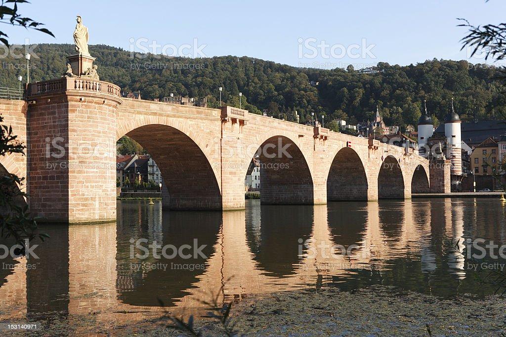 Alte Brücke in Heidelberg, Germany stock photo