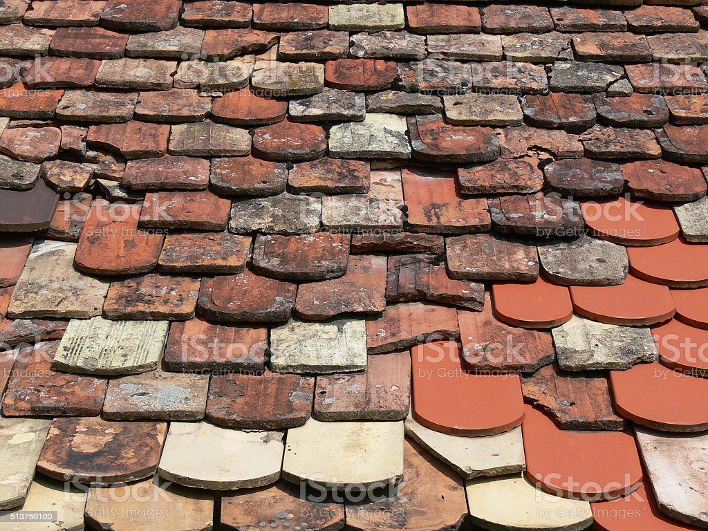 Alte Dachziegel 1 stock photo