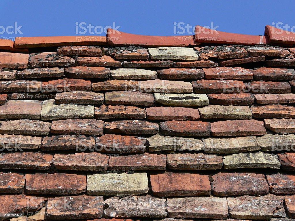 Alte Dachziegel 2 stock photo