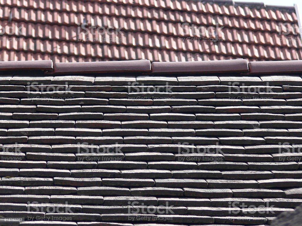 Alte Dachziegel 3 stock photo