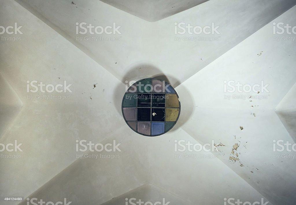alte Deckenlampe stock photo