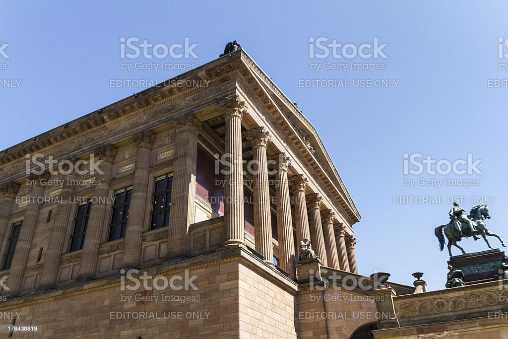 Alte Nationalgalerie on Museumsinsel in Berlin, Germany royalty-free stock photo