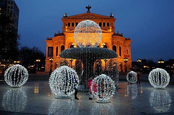 Alte Oper an Weihnachten, Frankfurt/Main, Deutschland – Foto