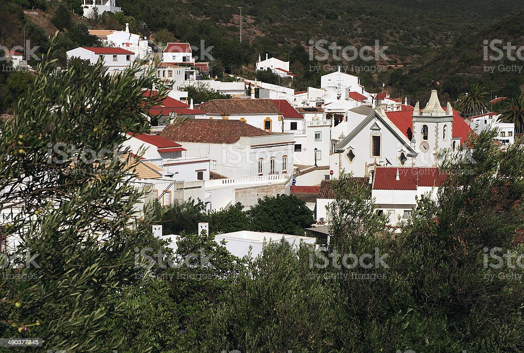 Alte - picturesque historical town in the Algarve, Portugal. stock photo
