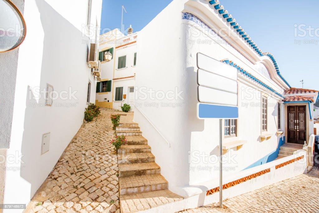 Alte village on the south of Portugal stock photo