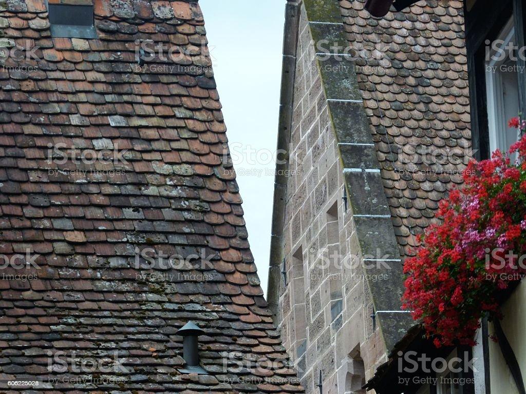 Alte Ziegeldächer 4 stock photo