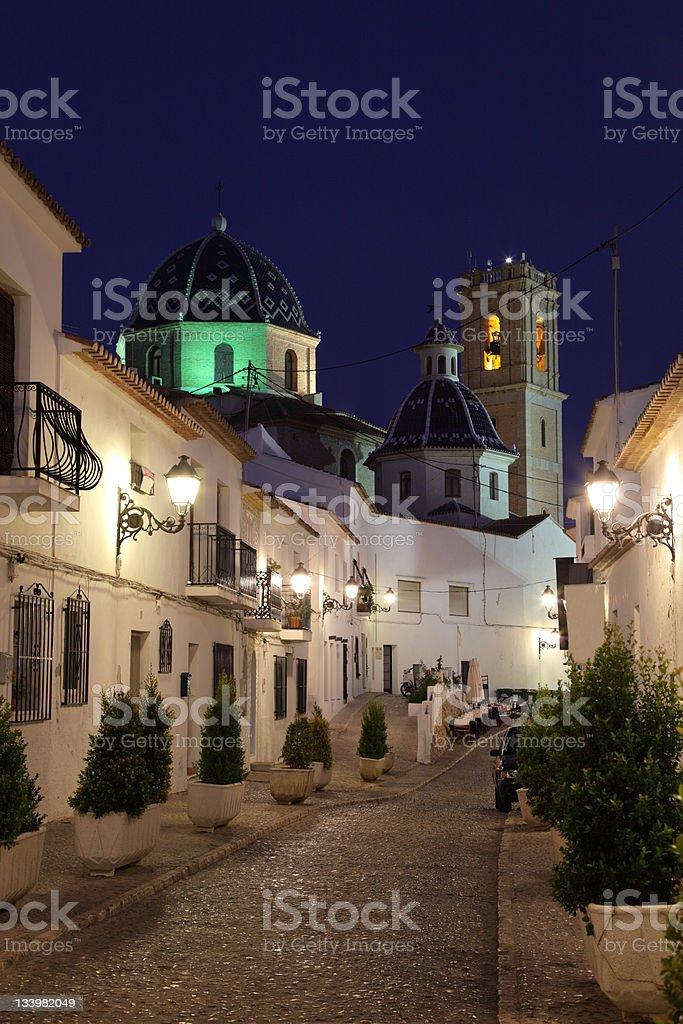 Altea en la noche, España - foto de stock