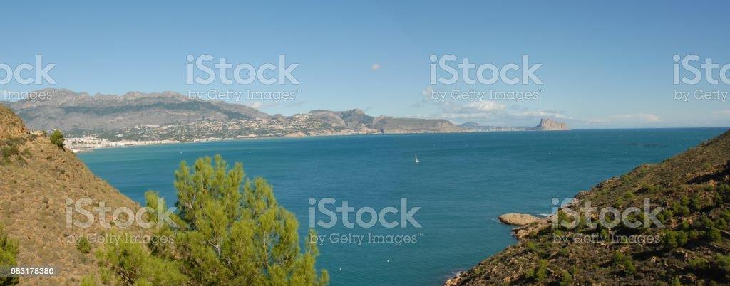 Altea / Calpe - Skyline - Stadtansichten - Hausfassaden - Costa Blanca - Spanien 免版稅 stock photo