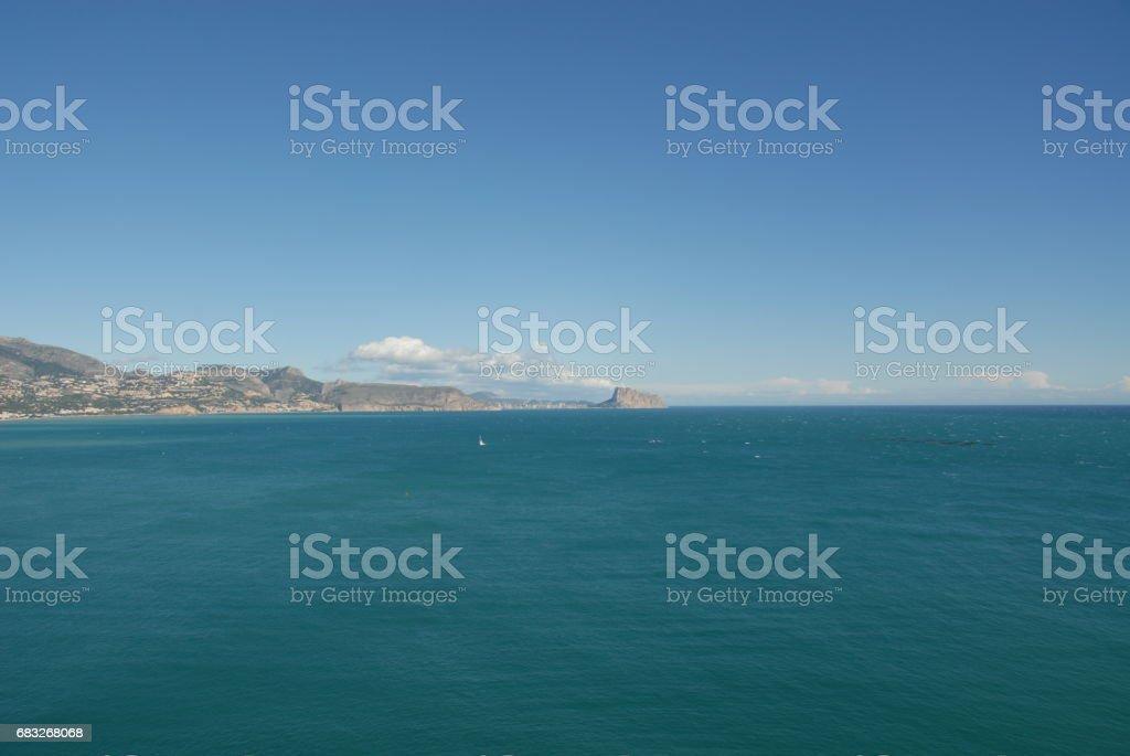 Altea / Calpe - Skyline - Stadtansichten - Hausfassaden - Costa Blanca - Spanien Lizenzfreies stock-foto