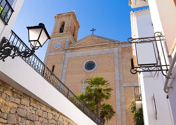 La iglesia parroquial Altea Igesia Nuestra señora del Consuelo en alicante - foto de stock
