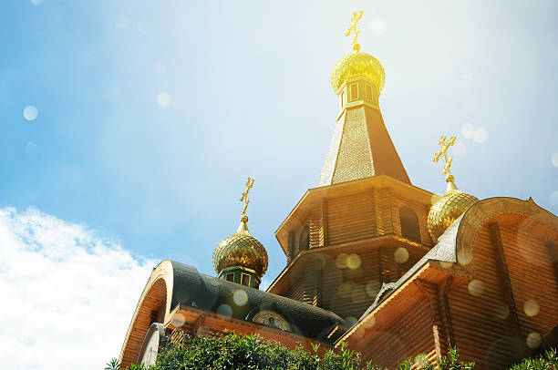 Altea Hills área, Iglesia ortodoxa rusa, Altea, Alicante provi - foto de stock