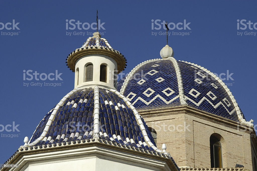 Altea, Plaça de la Església dome royalty-free stock photo
