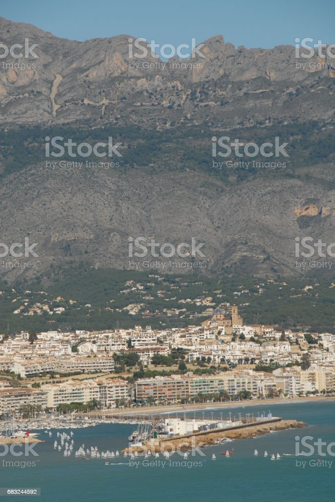 Altea - Skyline - Stadtansichten - Hausfassaden - Costa Blanca - Spanien royalty-free stock photo