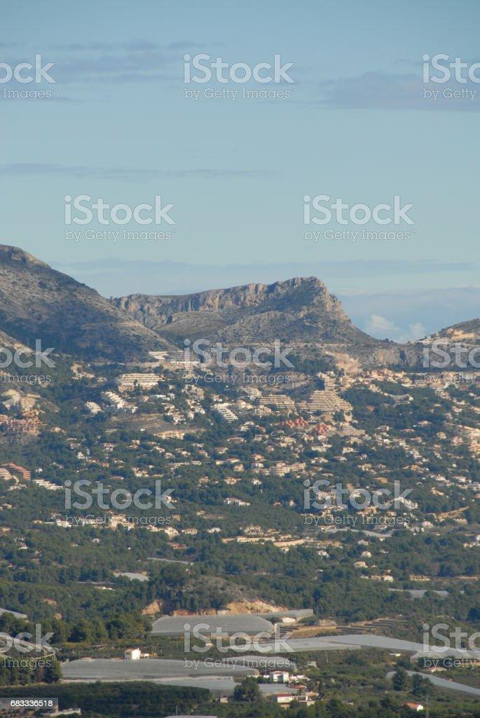 Altea - Skyline - Stadtansichten - Hausfassaden - Costa Blanca - Spanien royalty-free stock photo