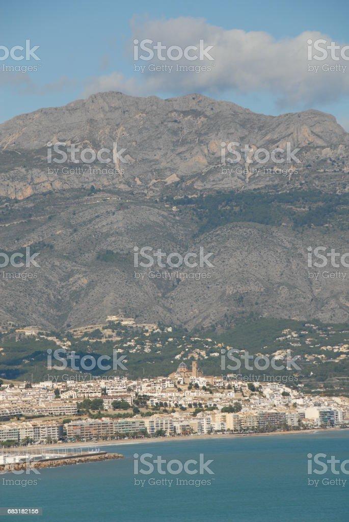 Altea - Skyline - Stadtansichten - Hausfassaden - Costa Blanca - Spanien 免版稅 stock photo